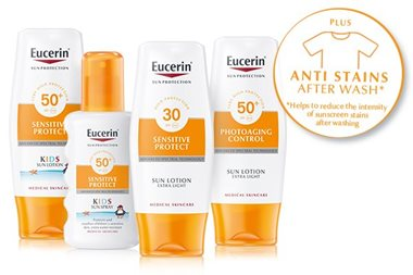 Sunscreen that doesn't stain clothes from Eucerin